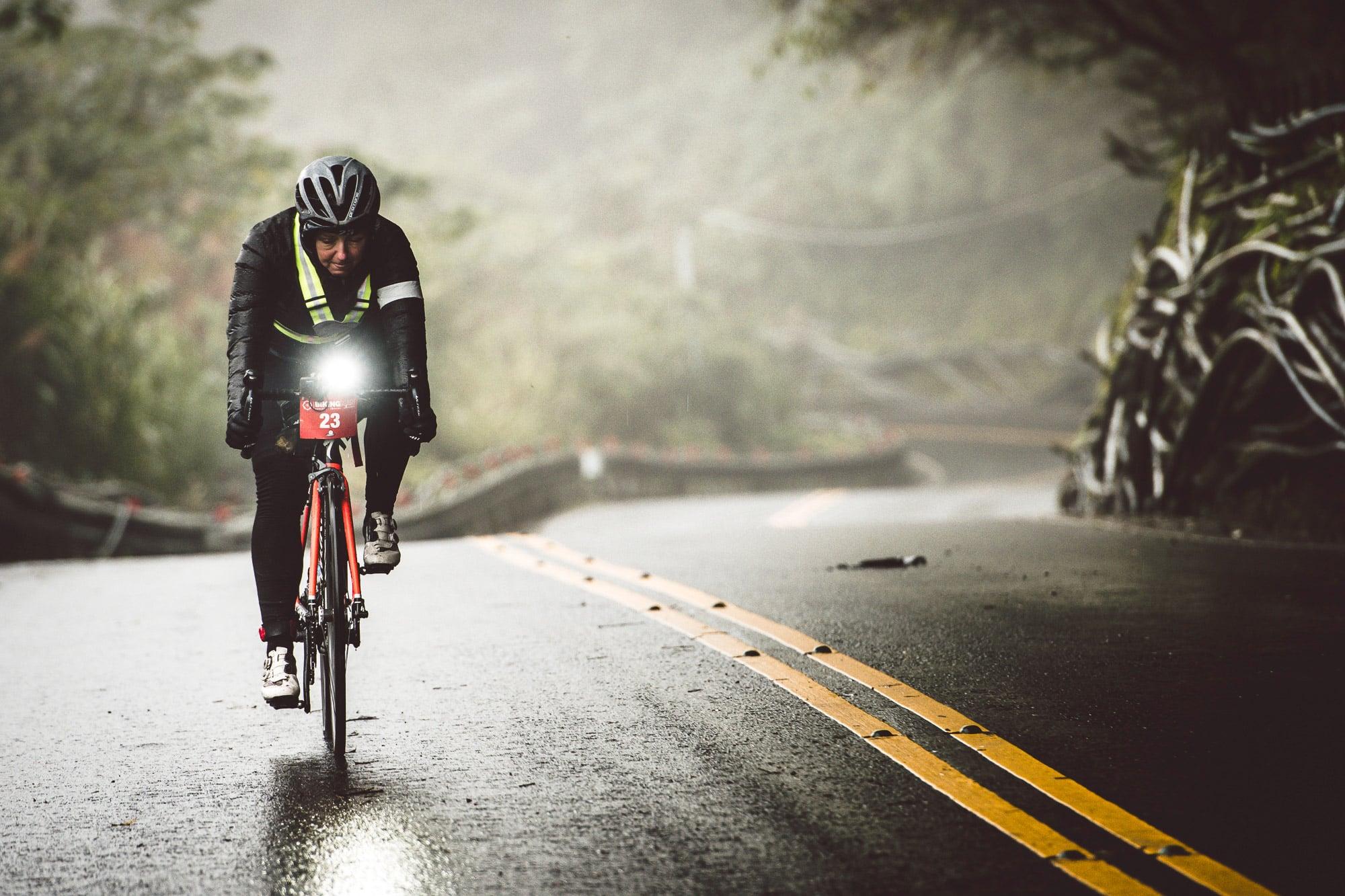 Tough route in tough conditions